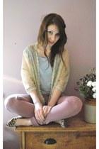 Topshop jeans - H&M t-shirt - Topshop cardigan