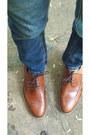 Brown-brogues-zara-shoes-blue-zara-jeans-navy-bow-jcrew-tie