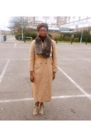 peach jacket - tan precis petit jacket - tan ankle boots Faith heels