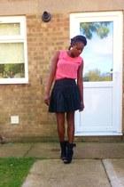 blouse - boots - skirt - vintage earrings