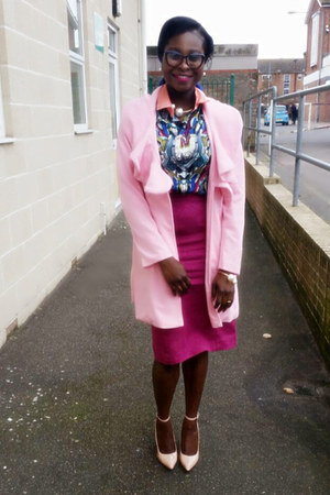 pink ruffle pink Sheinside jacket - blouse - Choies blouse