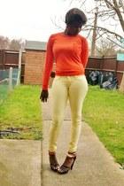 skinny drg jeans - strappy E-Vie sandals