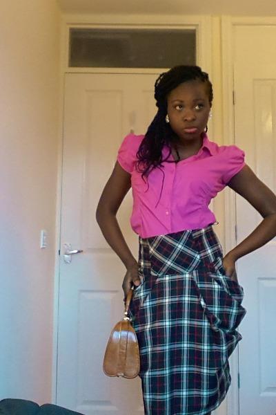 Atmosphere shirt - Dorothy Perkins shoes - vintage bag - Atmosphere skirt