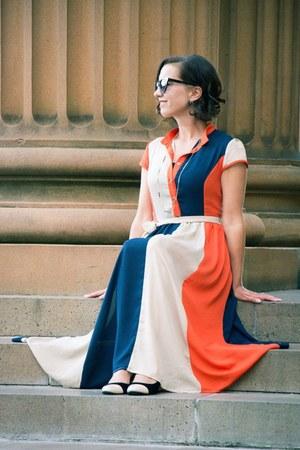 color block shein dress