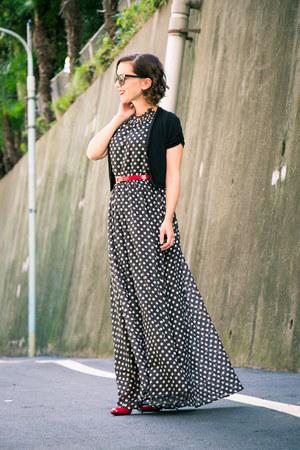 red Target pumps - maxi dress makemechic dress