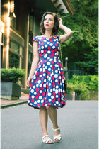 polka dot Lilee Fashion dress - white modcloth sandals