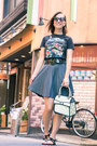 Star-wars-gifted-shirt-jump-from-paper-bag-pleated-modcloth-skirt