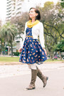 Amazon-boots-printed-vipme-dress-cropped-review-australia-cardigan