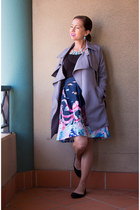trench Sophie Collection coat - midi modcloth skirt