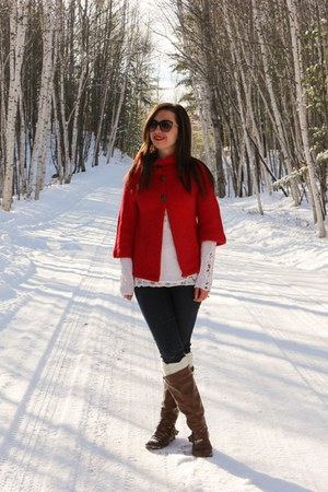 red modcloth cardigan