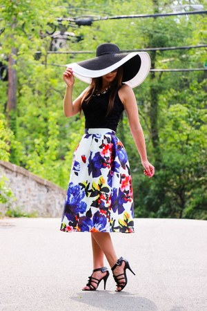 floral skirt shein skirt - modcloth hat
