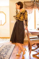 smock EvaTrends dress - gold modcloth heels