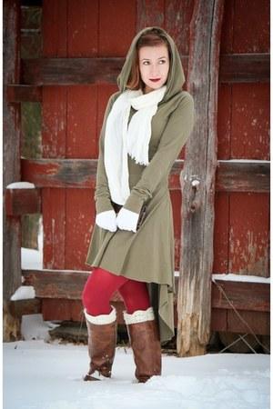 hooded handmade dress