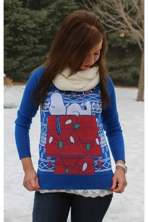 christmas peanuts sweater