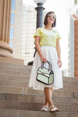 Jump From Paper bag - white shein skirt