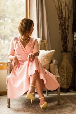 pink unique vintage dress