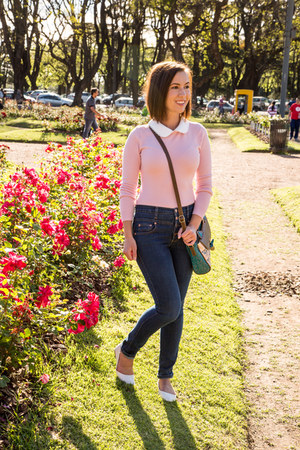 high-waisted modcloth jeans - pink Review Australia jumper