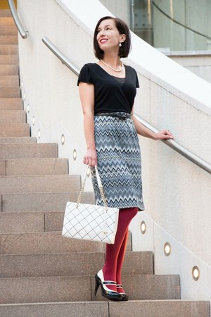 modcloth dress - quilted kate spade bag