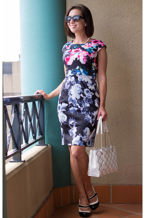 floral print Lilee Fashion dress - quilted kate spade bag - retro modcloth heels