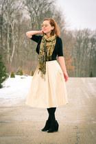 midi Blaque Label skirt - Target boots - quay sunglasses