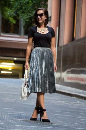 metallic shein skirt