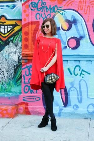 cape shein dress