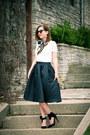 Silk-demon-tz-scarf-bow-pink-basis-heels-midi-romwe-skirt