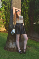 black ASOS sunglasses - white vintage60s50s vintage bag
