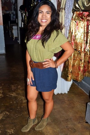 Forever 21 shirt - Sole Society boots - Forever 21 belt