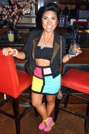 Love Culture skirt - Forever 21 blazer - Wet Seal bra - Jomsy accessories