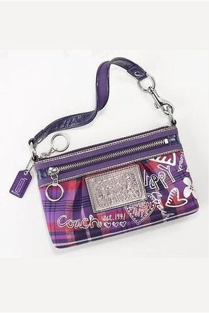 purple Coach Poppy purse