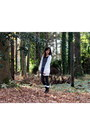 White-long-forever-21-cardigan-black-charlotte-russe-boots