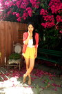 Camel-jeffrey-campbell-shoes-hot-pink-millau-blazer-gold-millau-shorts