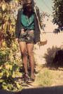 Black-forever-21-leggings-black-floral-print-wet-seal-shorts
