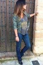 Bershka jacket - killah boots - Diesel jeans
