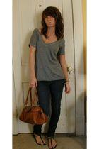 shirt - jeans - purse - shoes