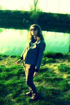 shoes - blazer - sunglasses - pants - t-shirt