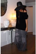 Forever21 sweater - emporio armani pants - Jessica Simpson hat