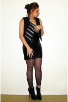 Target vest - Target t-shirt - Target leggings - forever 21 skirt - YSL shoes