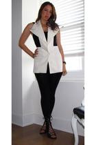 martin margiela vest - Urban Oufitters t-shirt - American Apparel leggings - Jef