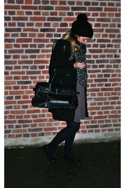 Zara dress - Zara coat - Zara scarf