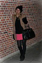 Zara boots - H&M coat - SANDRO skirt - Zara jumper