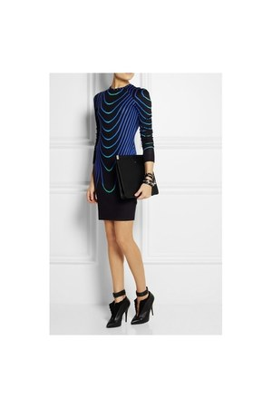 black short Christopher Kane dress - blue black dress Christopher Kane dress