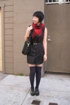 Target dress - scarf - H&M socks