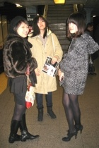 vintage jacket - BCBG boots - American Apparel skirt
