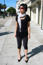 three dots top - Zara belt - BCBGgirls shoes - scarf