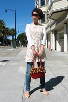 Craft Link purse - Weston Wear dress - seychelles shoes