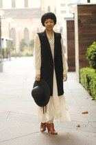 cream chictopia shop pixie market dress - gray wool H&M vest