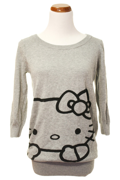 Knitting Pattern For Hello Kitty Sweater : Hello kitty knit sweater by helenz Chictopia