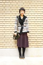 brown Old Navy cardigan - black Payless shoes - green Marc by Marc Jacobs bag
